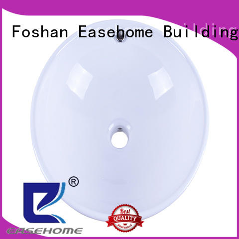 Easehome double bowl oval porcelain sink wholesale home-use
