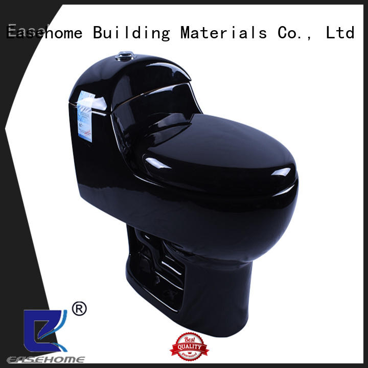 Easehome black dual flush toilet fast shipping hotel