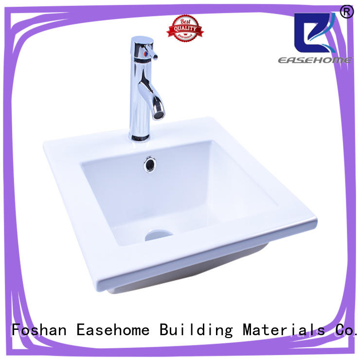 Easehome one piece white porcelain basin awarded supplier hotel