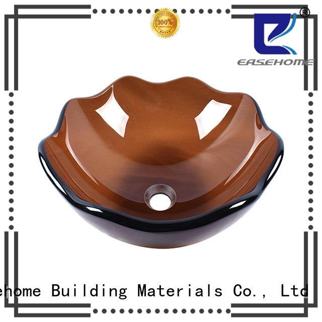 crystal black glass sink oval shaped customization bathroom