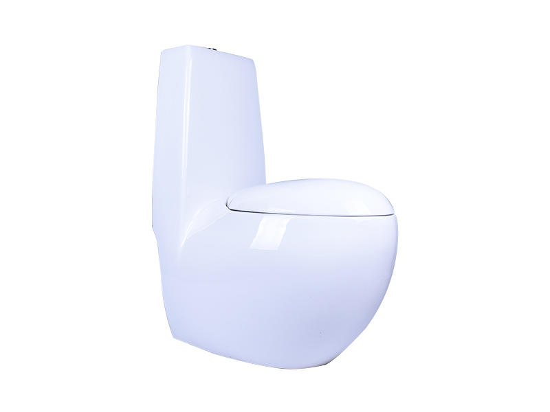 White Ceramic Bathroom One-Piece Toilet WC With Egg Pod Shape