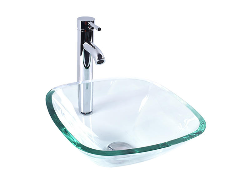 crystal glass bowl basin customization apartments