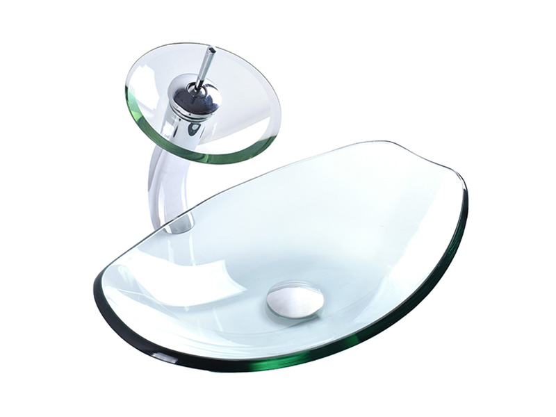 colorful glass vessel bowl super white customization washroom-4