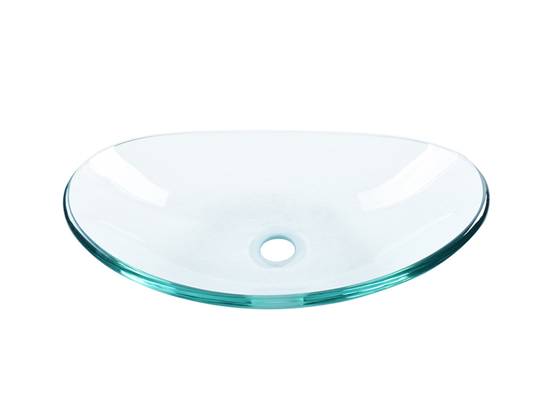 Easehome semitransparent glass bowl sink trendy design bathroom-7