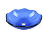 Blue Colored Semi-Transparent Bathroom Glass Sink Basin Vessel 14 Inch