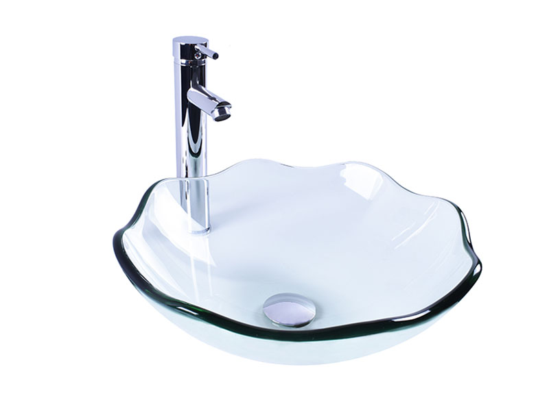 colorful glass bowl basin transparent trendy design bathroom-11