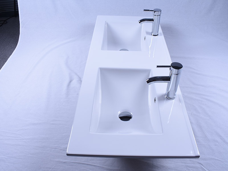 oem ceramic wash basin double bowl wholesale restaurant-5