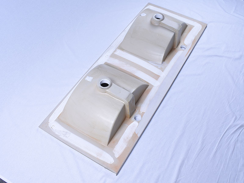 oem ceramic wash basin double bowl wholesale restaurant-6