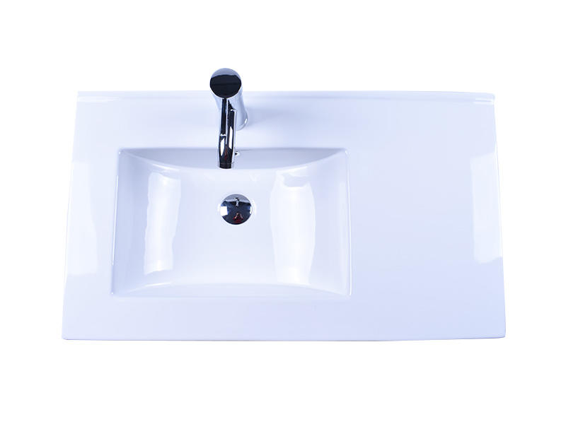 Ceramic Bathroom Vanity Above Counter Vessel Sink With Left And Right Bowl
