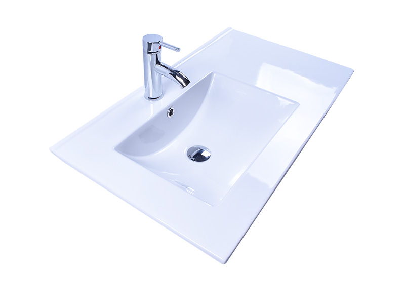 oem white porcelain kitchen sink pure white good price hotel-2