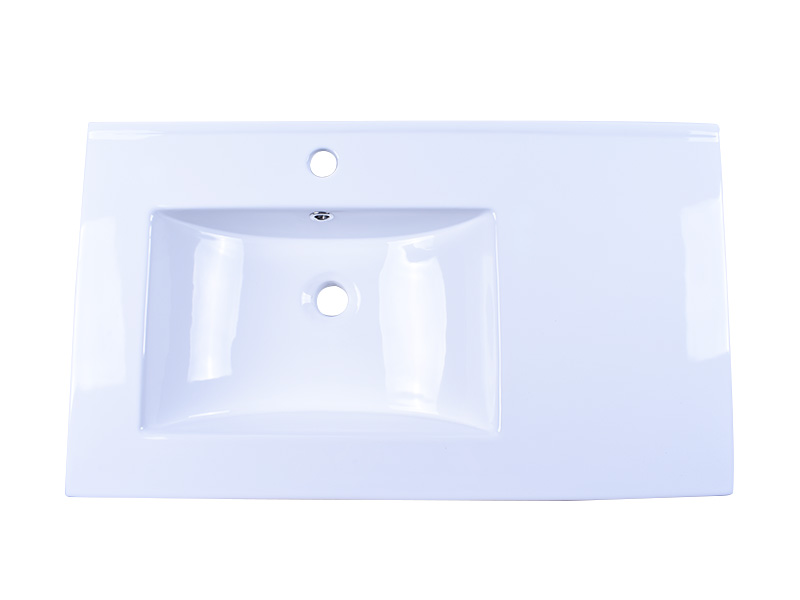 oem white porcelain kitchen sink pure white good price hotel-3