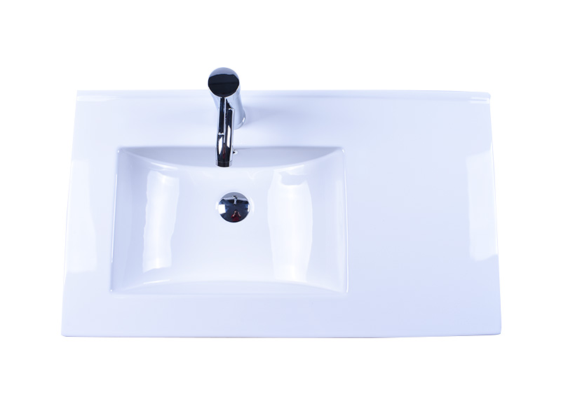 oem white porcelain kitchen sink pure white good price hotel-4