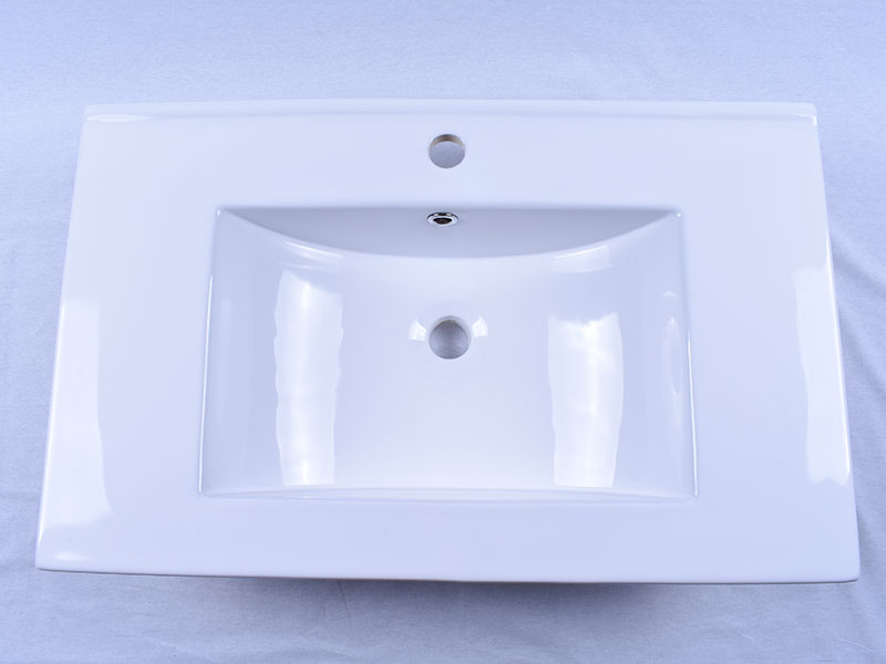 Easehome double bowl porcelain vessel sink good price hotel-5