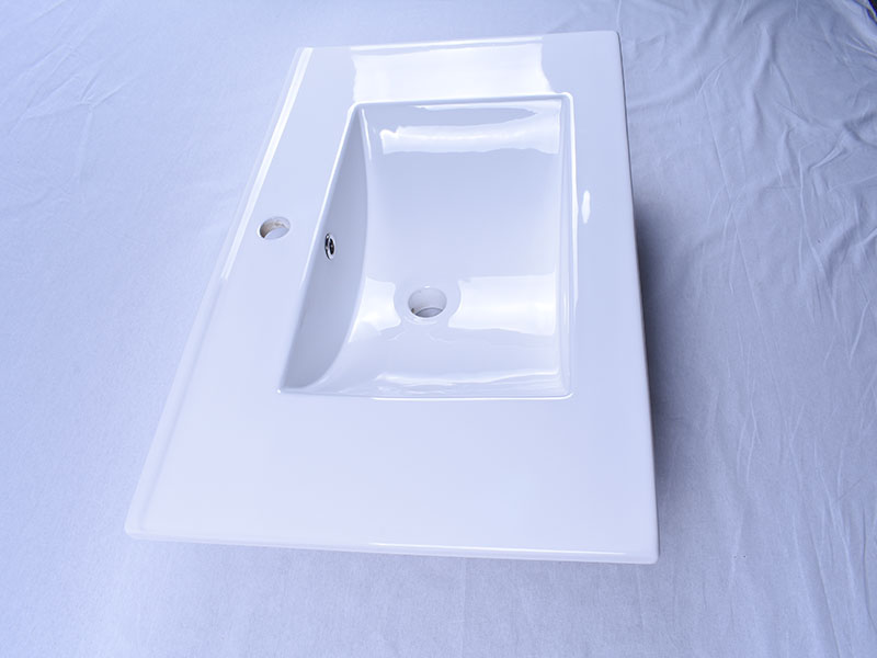 oem white porcelain kitchen sink pure white good price hotel-6