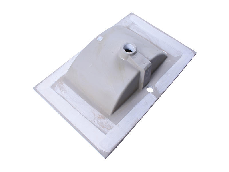 White Impression Porcelain Ceramic Bathroom Vanity One-Piece Counter Top Integrated Washbasin Sink