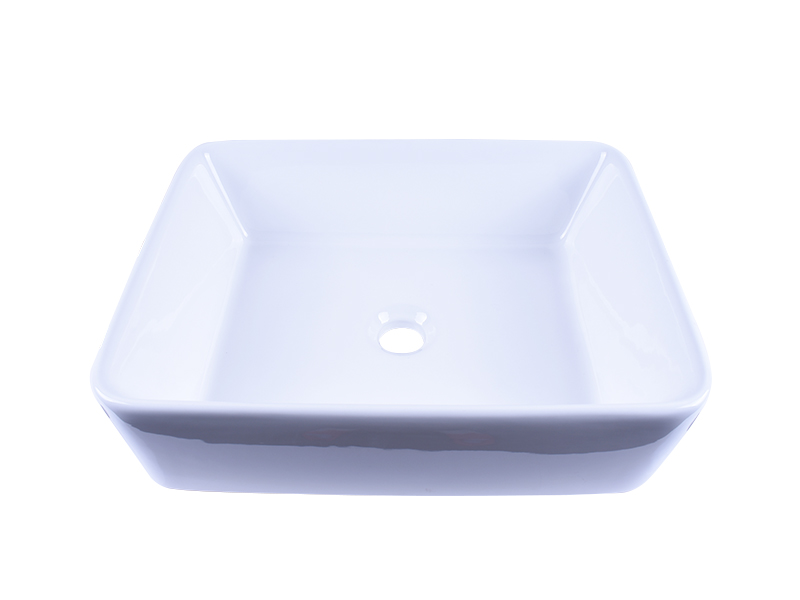 Easehome rectangle porcelain undermount bathroom sink awarded supplier restaurant-2