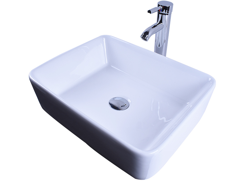 Easehome rectangle porcelain undermount bathroom sink awarded supplier restaurant-3