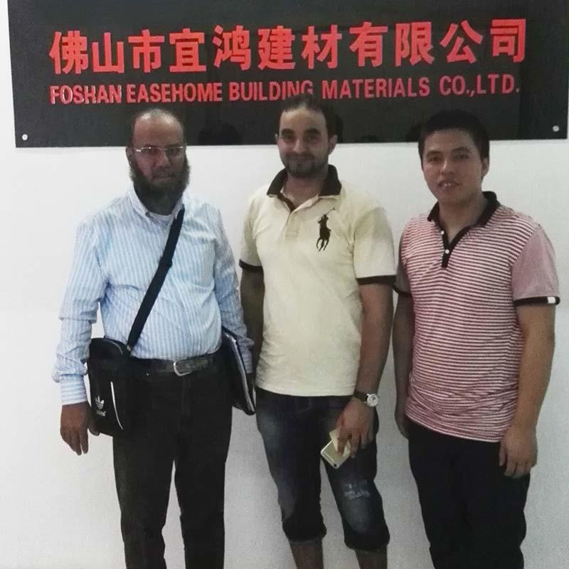 Saudi Arabian client Mr MOHAMMED DHAFER and his partner for basin,faucet toilet order