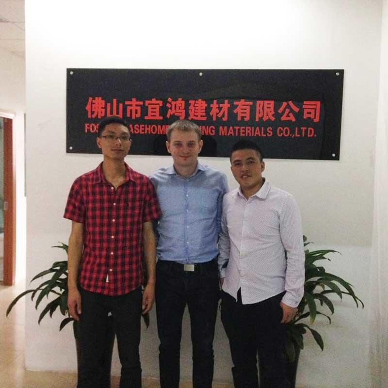 With Poland client for faucet business discussion