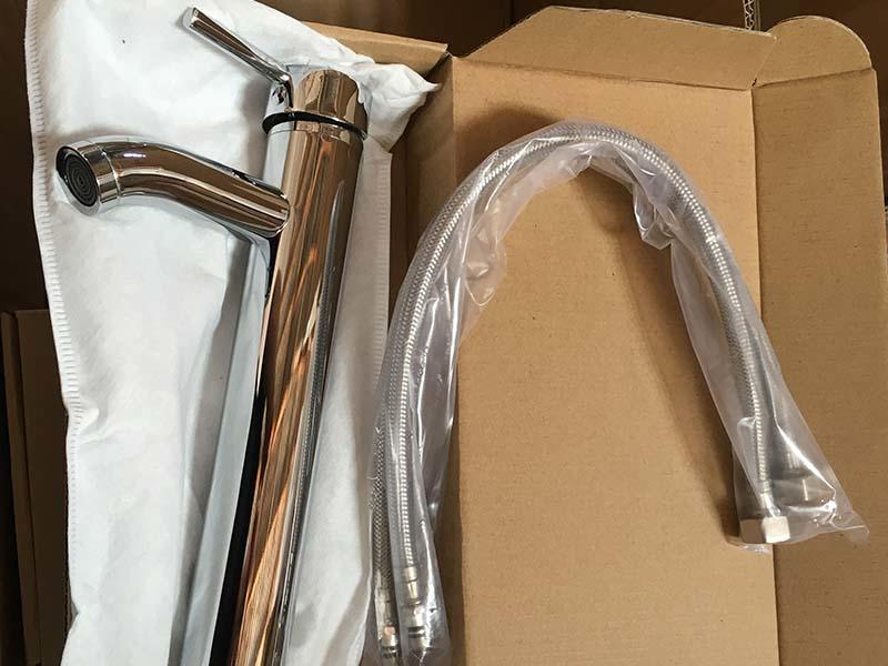 Packages of faucet parts
