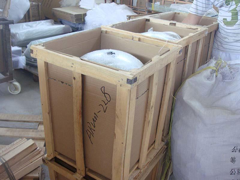 Plastic bag Packages of glass basin