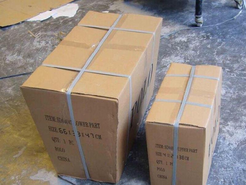 Packages of toilets
