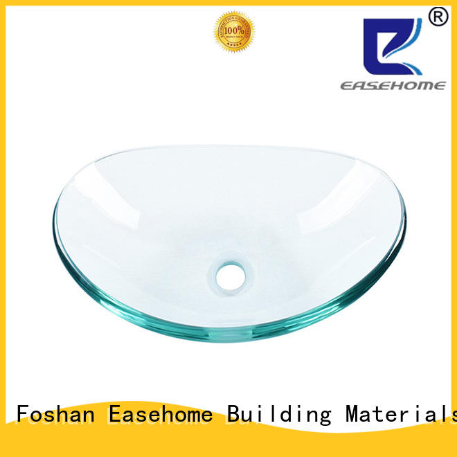 Easehome square shape glass bowl sink best price washroom