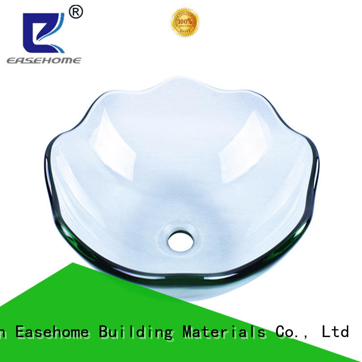 Easehome bowl round double layer glass vessel sink customization bathroom