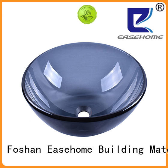 colorful glass bowl basin transparent customization apartments