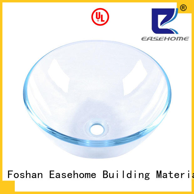 Easehome lotus shaped glass vessel bowl trendy design bathroom