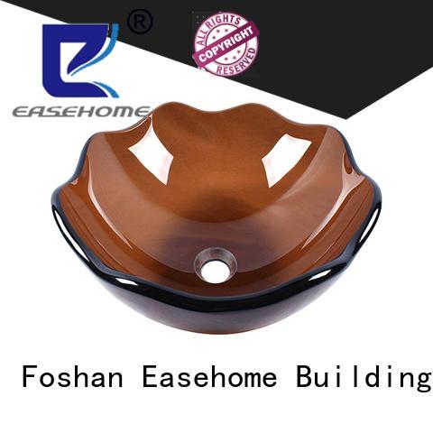 crystal glass vessel bowl oval shaped trendy design bathroom