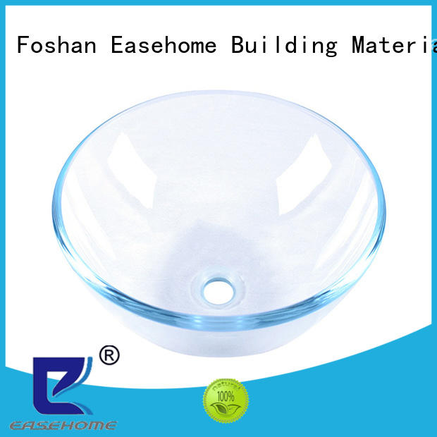 Easehome lotus shaped green glass vessel sink trendy design apartments
