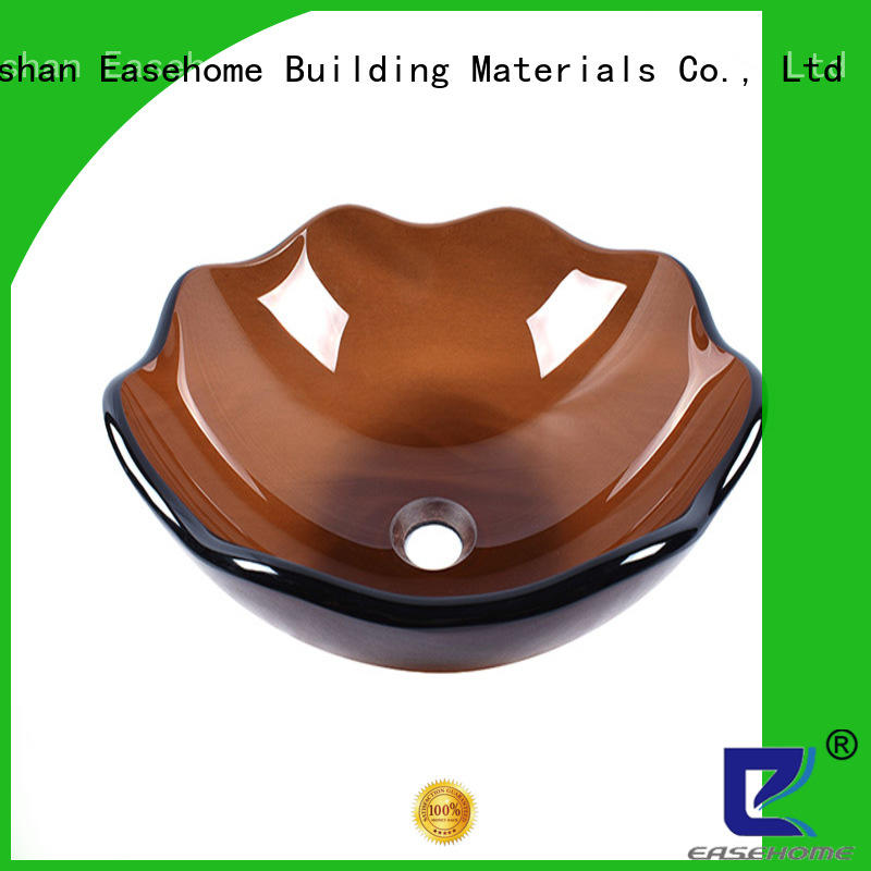 Brown Colored Semilucent 12'' 14'' 16'' Lavatory  Tempered Glass Lavabo