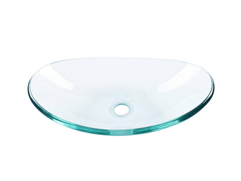 Easehome semitransparent glass bowl sink trendy design bathroom-1