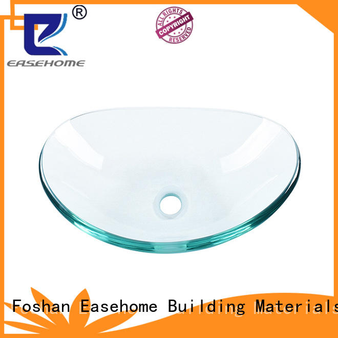 Easehome semitransparent glass bowl sink trendy design bathroom