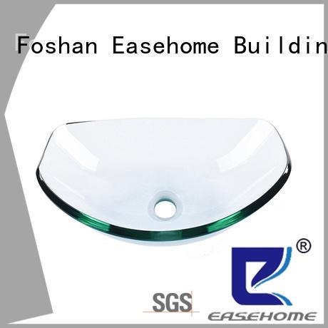 Easehome rectangular glass vessel customization bathroom