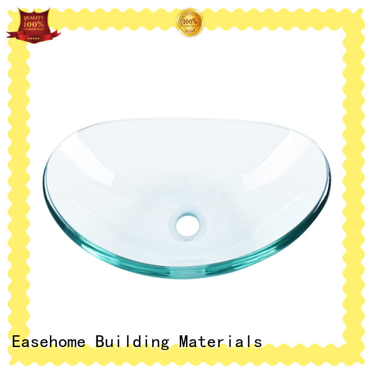 Easehome lotus shaped glass vessel bathroom sinks pop washroom