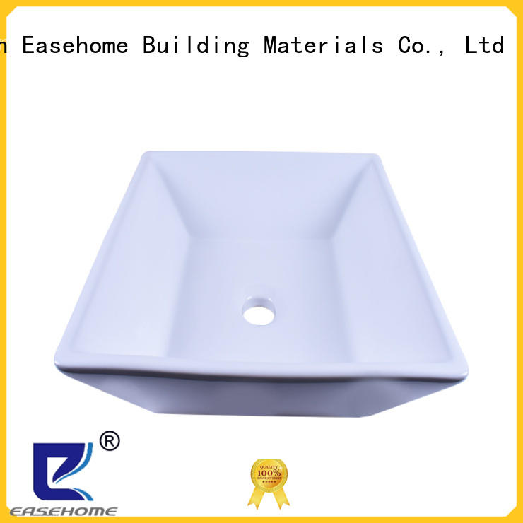 Easehome round bowl porcelain vessel sink good price hotel