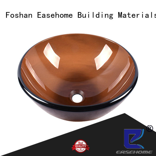 Easehome colorful glass wash basin best price bathroom