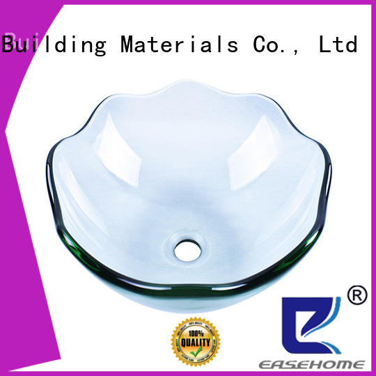 lotus shaped wall mount glass sink chromed trendy design apartments