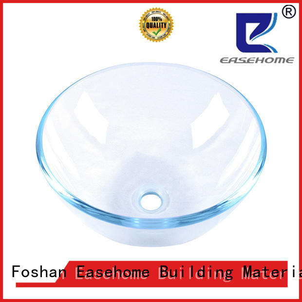 Easehome colorful red glass vessel sink best price washroom