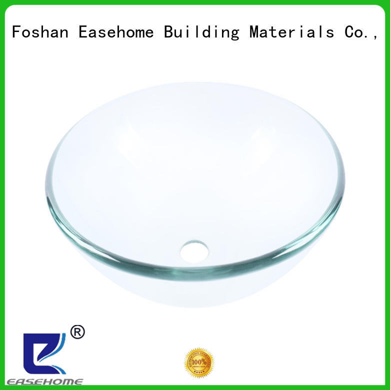 colorful glass countertop basin trendy design bathroom