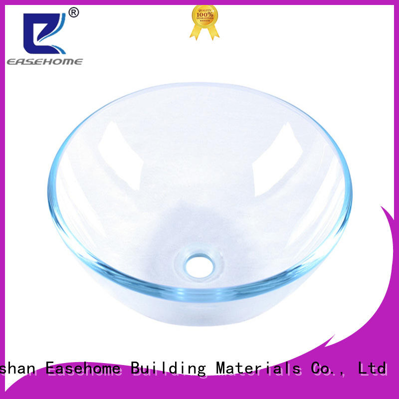 Easehome crystal glass bathroom sink best price washroom
