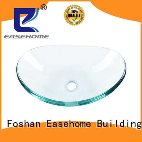 Easehome bowl round glass bathroom basins best price washroom