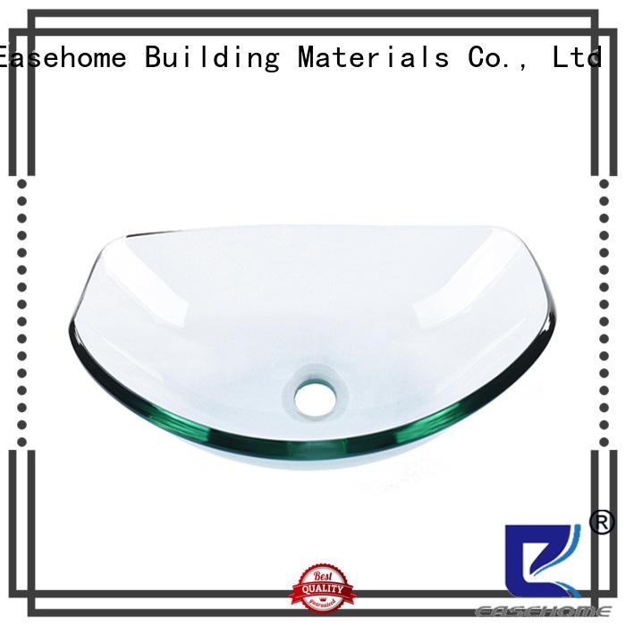 Easehome lotus shaped glass basin sink trendy design bathroom