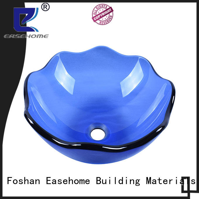 lotus shaped red glass vessel sink semitransparent best price apartments