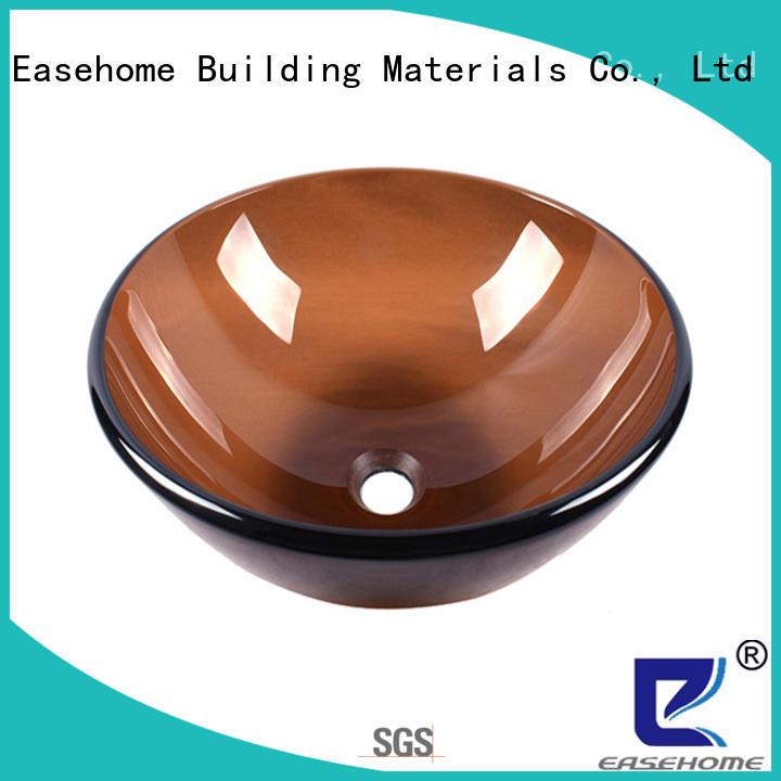 Easehome lotus shaped glass wash basin best price bathroom