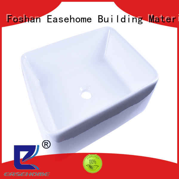 Easehome modern single bowl ceramic sink commercial glazed home-use
