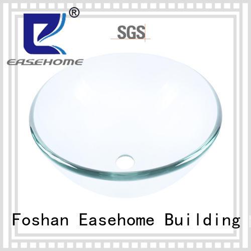 Easehome rectangular glass bowl sink customization washroom