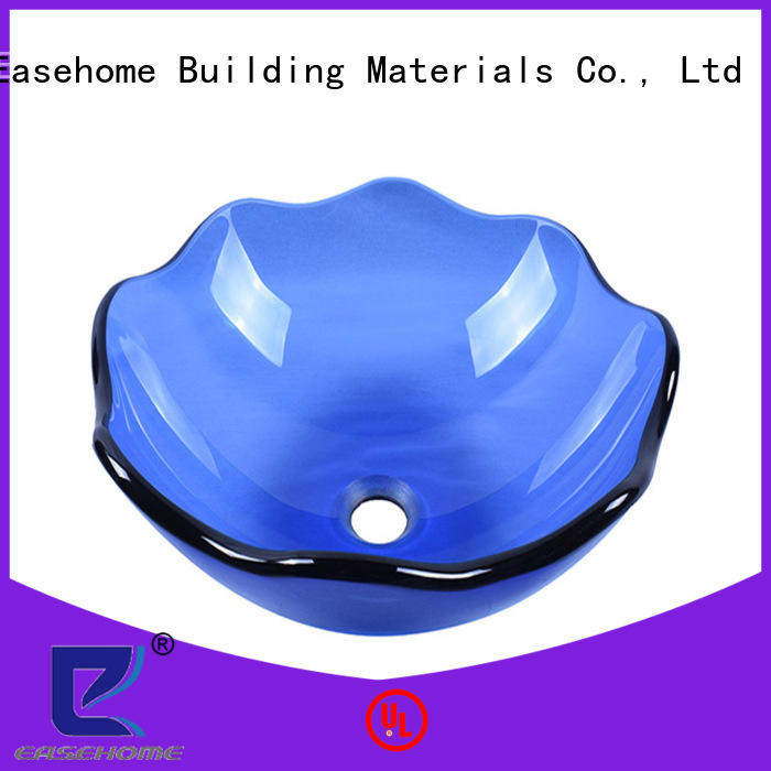 Easehome lotus shaped glass basin best price washroom